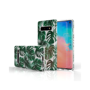 SAMSUNG GALAXY S10 BACK COVER – GREEN LEAVES
