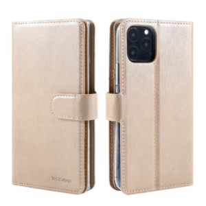 iPhone 11 PRO WALLET CASE WITH 6 CARDS SLOT – GOUD