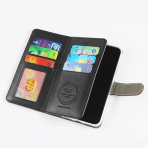 iPhone 11 PRO WALLET CASE WITH 6 CARDS SLOT – ZWART