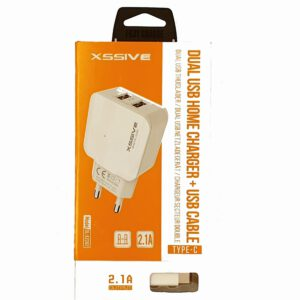 DUO  USB CHARGER MET Lightning CABLE FOR IPHONE – 2.1A
